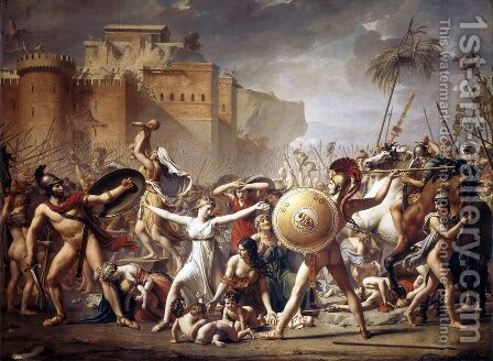 Jacques Louis David: The Intervention of the Sabine Women - reproduction oil painting