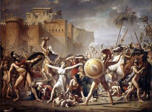 Reproduction oil paintings - Jacques Louis David - The Intervention of the Sabine Women