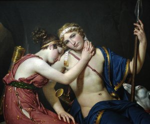 Reproduction oil paintings - Jacques Louis David - The Farewell of Telemachus and Eucharis