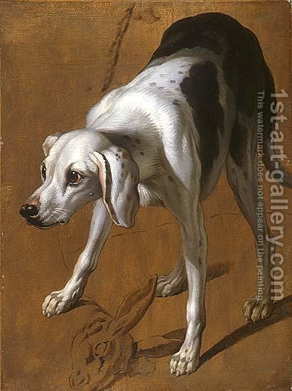 Study of a Pointer by Alexandre-Francois Desportes - Reproduction Oil Painting
