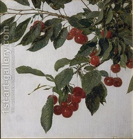 Cherries by Ignace Henri Jean Fantin-Latour - Reproduction Oil Painting