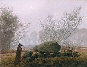 Reproduction oil paintings - Caspar David Friedrich - A Walk at Dusk