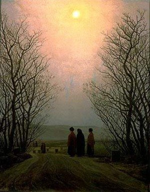 Reproduction oil paintings - Caspar David Friedrich - Easter Monday