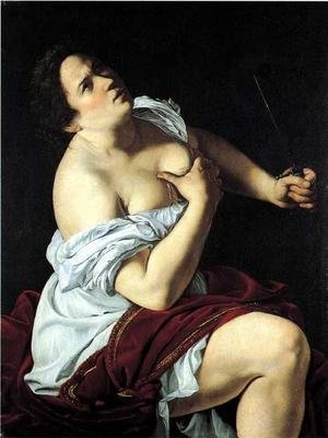 Reproduction oil paintings - Artemisia Gentileschi - Lucretia