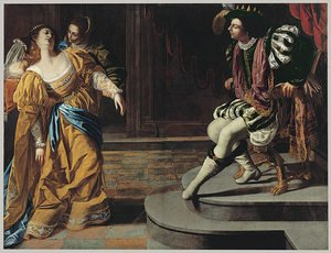 Reproduction oil paintings - Artemisia Gentileschi - Esther before Ahasuerus