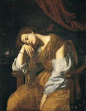 Reproduction oil paintings - Artemisia Gentileschi - Mary Magalene as Melancholy