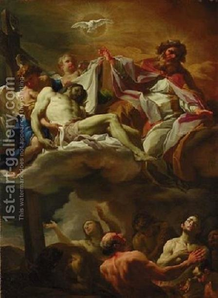 The Trinity with Souls in Purgatory by Corrado Giaquinto - Reproduction Oil Painting