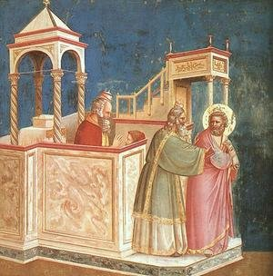 Reproduction oil paintings - Giotto Di Bondone - Expulsion of Joachim from the Temple