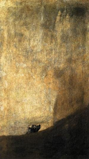 Goya reproductions - The Dog