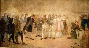 Napoleon Visiting the Louvre