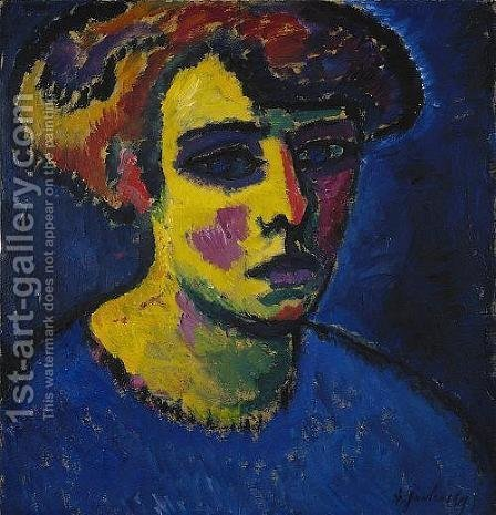 Head of a Woman by Alexei Jawlensky - Reproduction Oil Painting