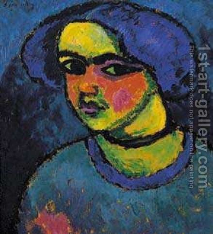 The Black Eyes by Alexei Jawlensky - Reproduction Oil Painting