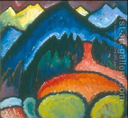 Mountain by Alexei Jawlensky - Reproduction Oil Painting