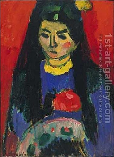 Red Blossom by Alexei Jawlensky - Reproduction Oil Painting