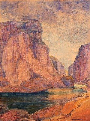 Group of Seven painting reproductions: The Guardian of the Gorge