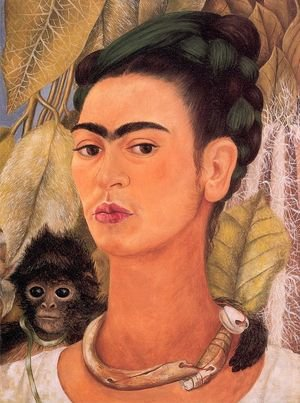 Reproduction oil paintings - Frida Kahlo - Self Portrait with Monkey