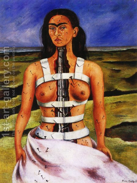 The Broken Column by Frida Kahlo - Reproduction Oil Painting