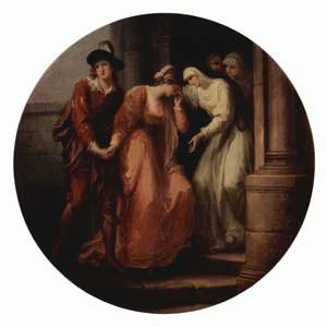 Angelica Kauffmann reproductions - The Parting of Abelard and Heloise