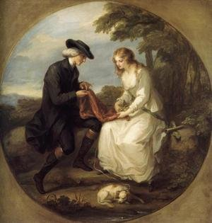 Reproduction oil paintings - Angelica Kauffmann - The Insane Maria