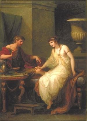 Reproduction oil paintings - Angelica Kauffmann - Ulysses and Circe