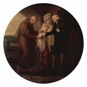 Reproduction oil paintings - Angelica Kauffmann - The Monk of Calais