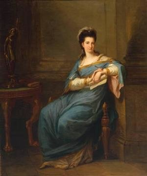 Reproduction oil paintings - Angelica Kauffmann - Portrait of a Lady