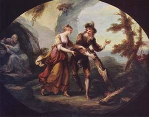 Reproduction oil paintings - Angelica Kauffmann - Miranda and Ferdinand