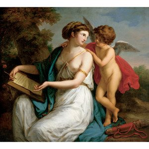 Reproduction oil paintings - Angelica Kauffmann - Sappho Inspired by Love