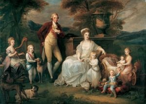 Reproduction oil paintings - Angelica Kauffmann - Ferdinand IV, King of Naples, and his Family
