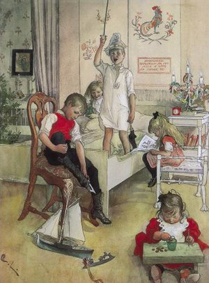 Famous paintings of Christmas: Christmas Morning