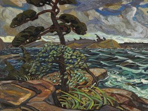 Famous paintings of Storms & Rough Water: September Gale, Georgian Bay
