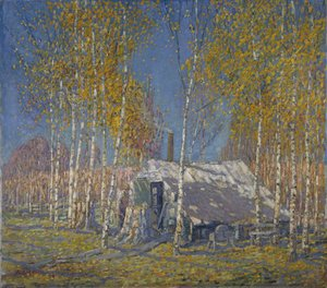 Group of Seven painting reproductions: The Guide's Home, Algonquin