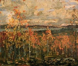 Group of Seven painting reproductions: Hillside