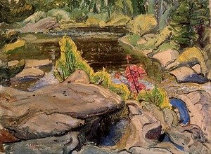 Group of Seven painting reproductions: Little Lake I