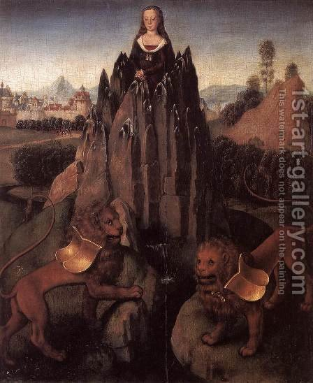 Allegory with a Virgin by Hans Memling - Reproduction Oil Painting