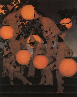 Famous paintings of Trees: The Lantern Bearers