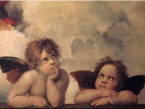 Famous paintings of Clouds & Skyscapes: Cherubini