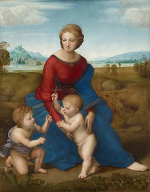 Famous paintings of Portraits: Madonna of the Meadow