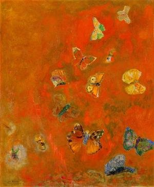 Reproduction oil paintings - Odilon Redon - Evocation of Butterflies