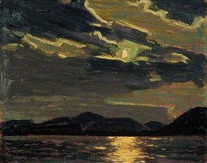 Famous paintings of Clouds & Skyscapes: Hot Summer Moonlight