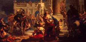 Reproduction oil paintings - Giovanni Battista Tiepolo - The Rape of the Sabine Women