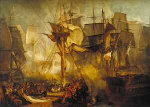 Reproduction oil paintings - Turner - The Battle of Trafalgar