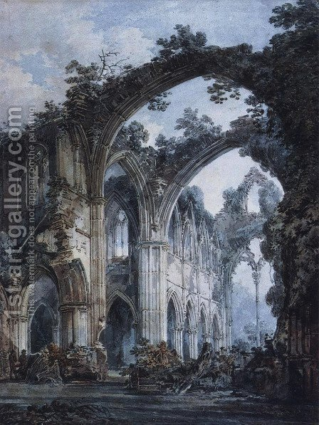 Inside of Tintern Abbey by Turner - Reproduction Oil Painting