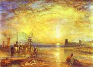 Reproduction oil paintings - Turner - Flint Castle