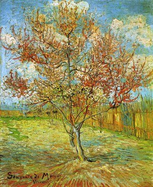 Reproduction oil paintings - Vincent Van Gogh - Peach Tree in Blossom at Arles