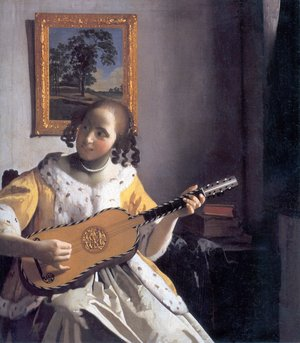 Reproduction oil paintings - Jan Vermeer Van Delft - The Guitar Player