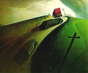 Famous paintings of Cars: Death on Ridge Road