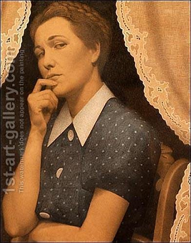 Grant Wood: Perfectionist - reproduction oil painting