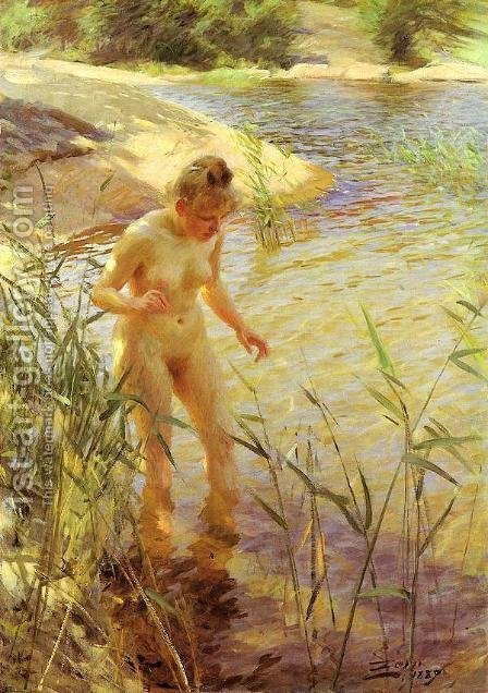 Reflections by Anders Zorn - Reproduction Oil Painting