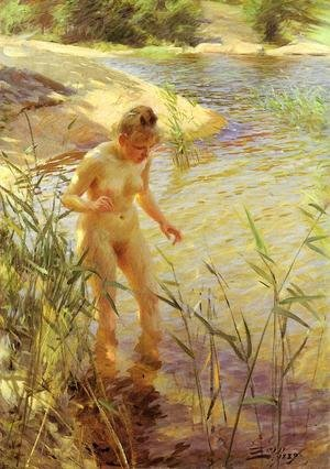 Reproduction oil paintings - Anders Zorn - Reflections
